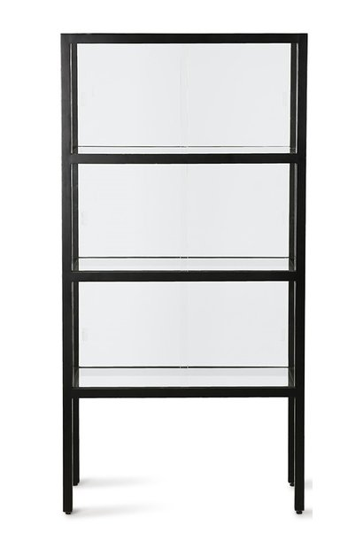 Kast show case 3 storey black