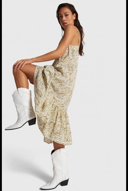 Jurk mini zebra slip dress off white