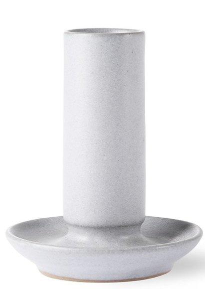 Kaarsenhouder ceramic m grey