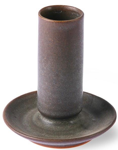 Kaarsenhouder ceramic m brown-2
