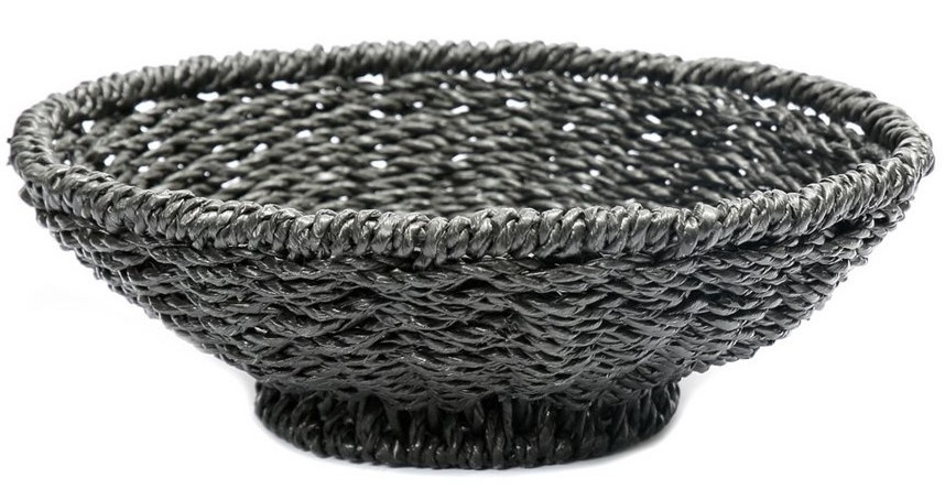 Mand The Porto Seagrass Bowl Black-1