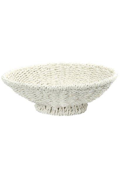 Mand The Porto Seagrass Bowl White