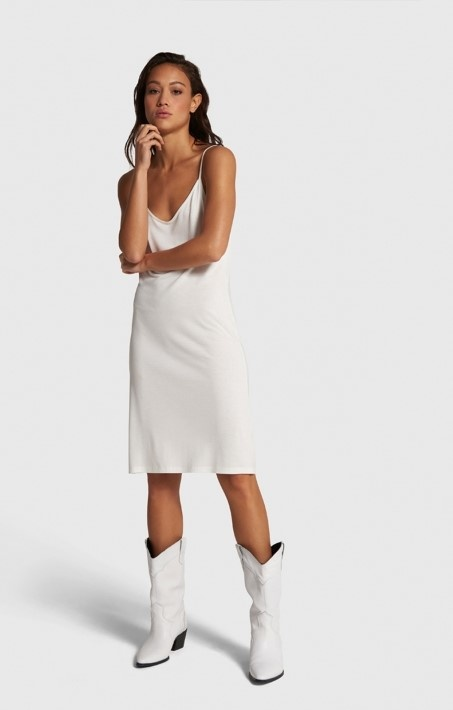 Jurk  knitted slip off white-2