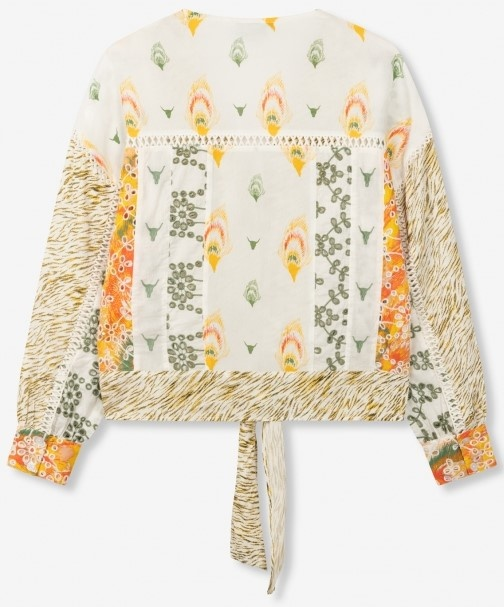 Blouse woven fancy mix  off white-4