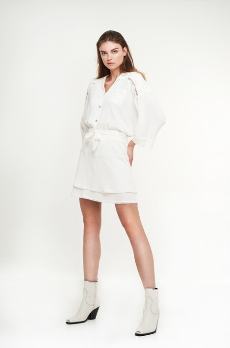 Blouse woven crinkle off white-3