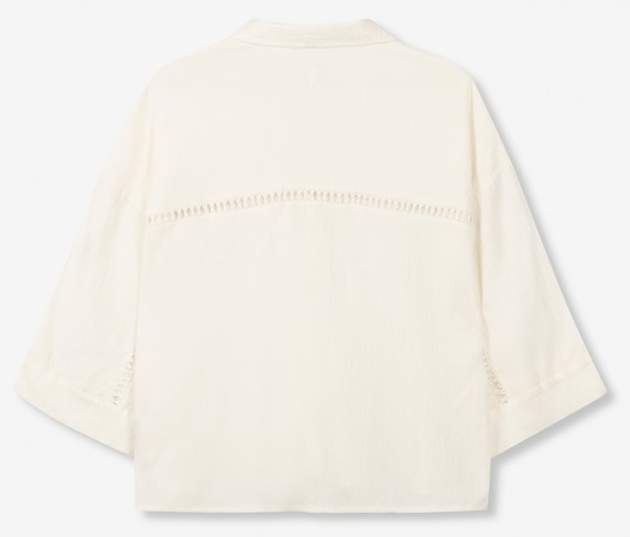 Blouse woven crinkle off white-5