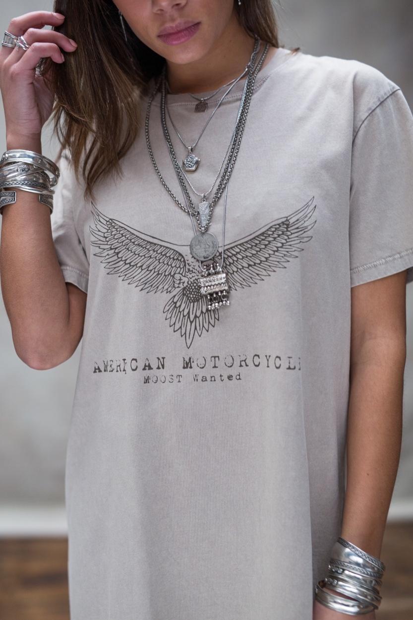 T-shirt dress Áquila stone beige-4