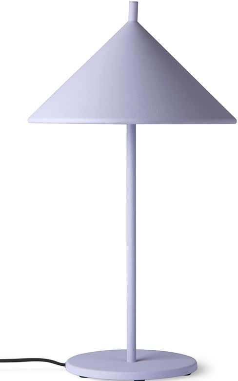 Tafellamp metal triangle M matt lilac-1