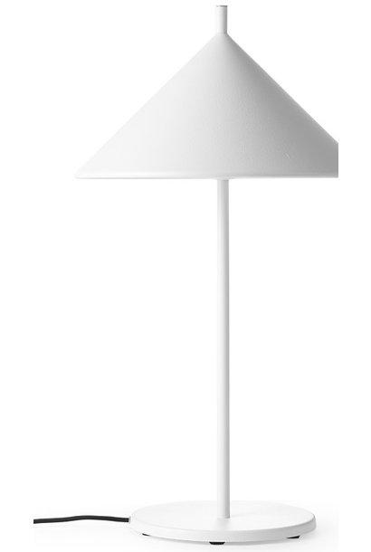 Tafellamp metal triangle M matt white