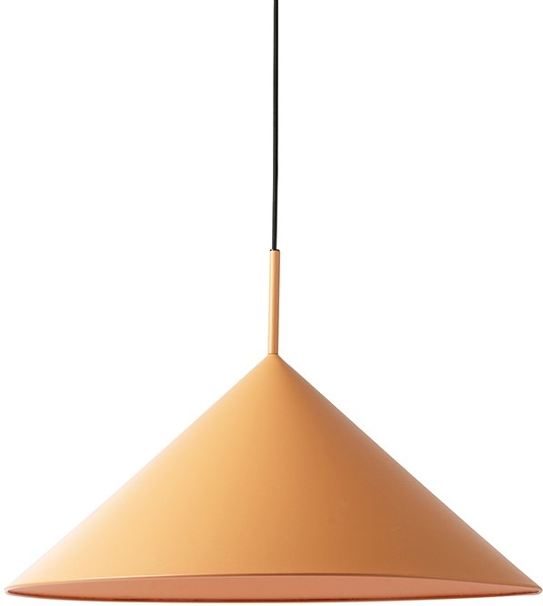 Hanglamp metal triangle pendant L  matt peach-1