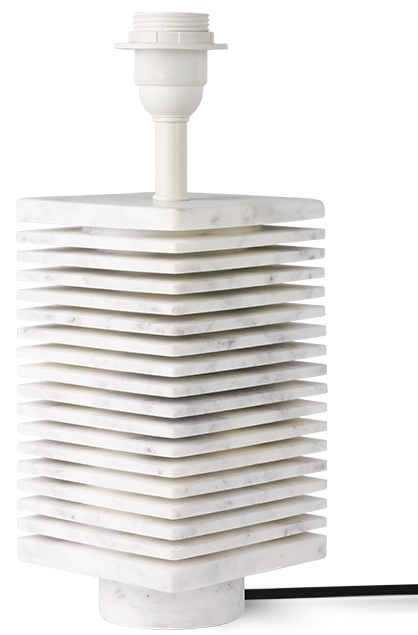 Lampenvoet Ribbed table  white marble-1