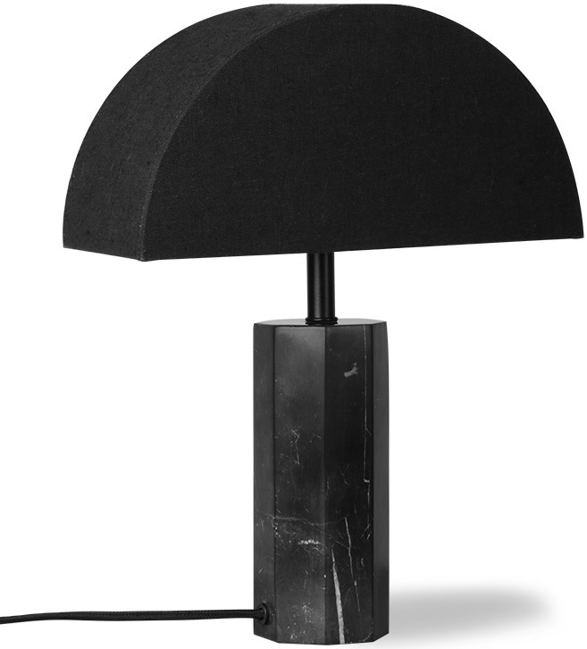 Lampenvoet Hexagon table black marble-3