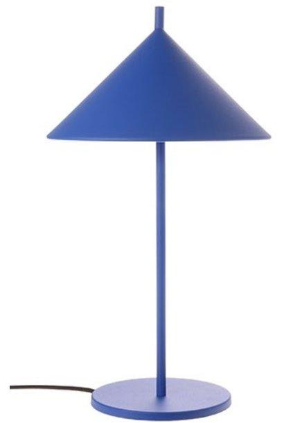 Tafellamp metal triangle M matt cobalt