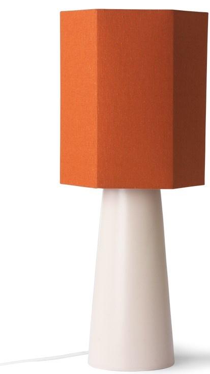 Lampenkap hexagonal orange jute M-2