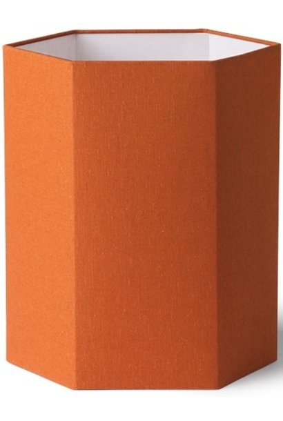 Lampenkap hexagonal orange jute M