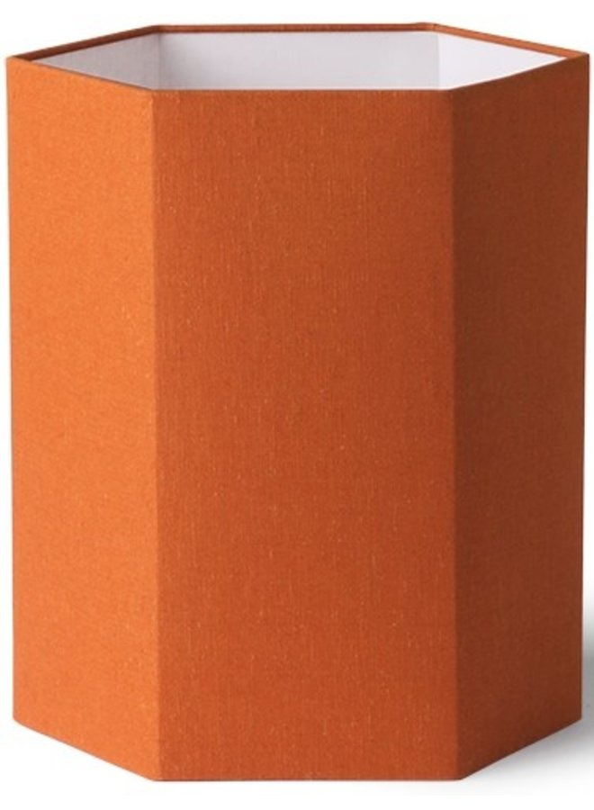 Lampenkap exagonal orange jute m