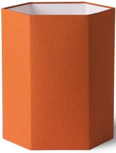 Lampenkap hexagonal orange jute M-1