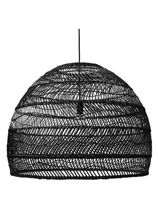 Hanglamp wicker ball L Black