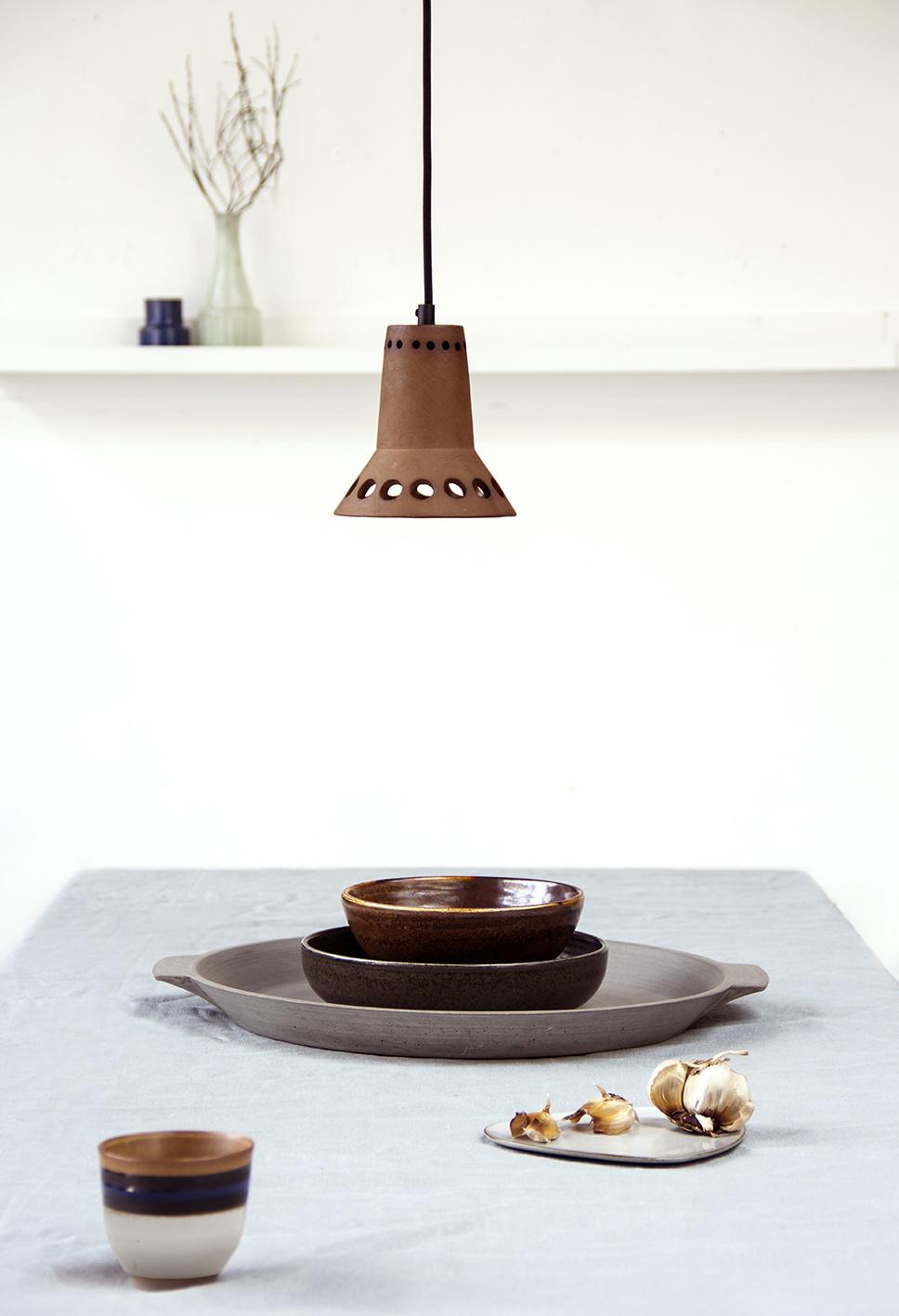 Hanglamp terracotta 1-2
