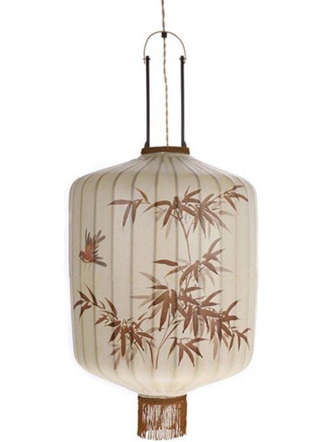 Hanglamp traditional lantern L cream