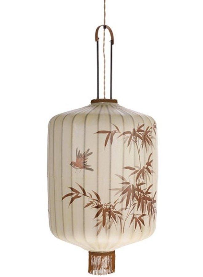 Hanglamp traditional lantern xl cream
