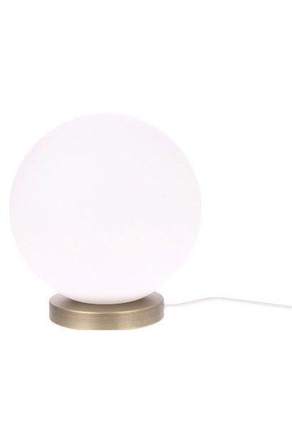 Tafellamp white glass ball  M
