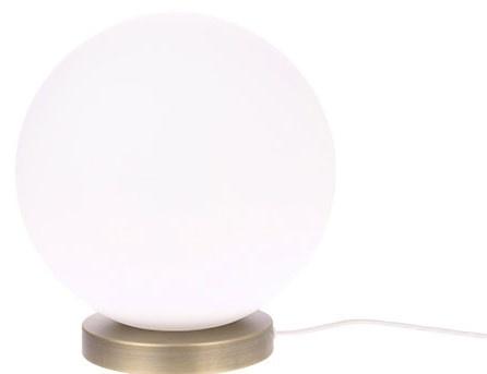 Tafellamp white glass ball M-1