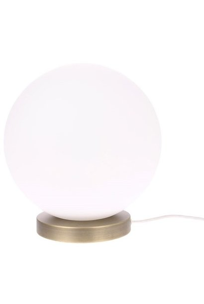 Tafellamp white glass ball L