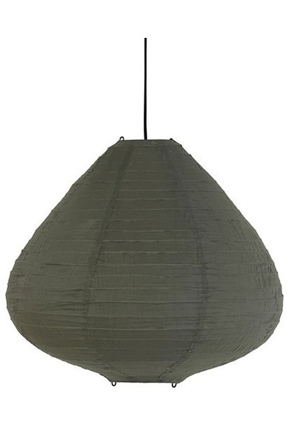 Hanglamp fabric lantern 65cm army green