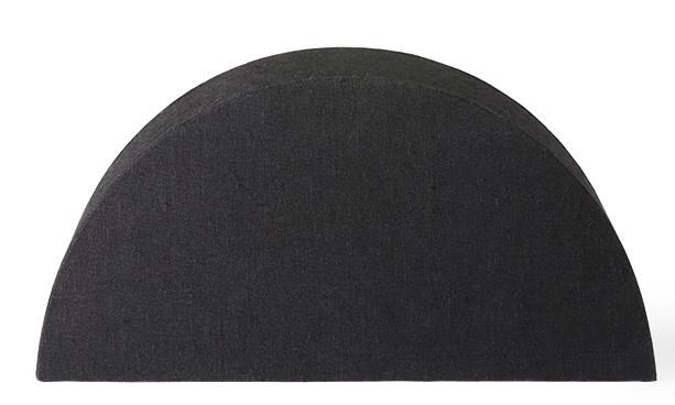 Lampenkap semicircle S black jute-1