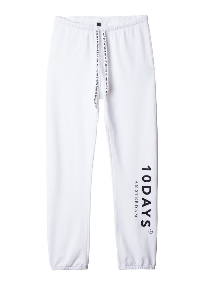 Broek the loose jogger white
