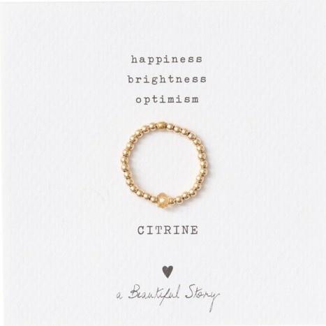 Ring sparkle citrine S/M Gold-1