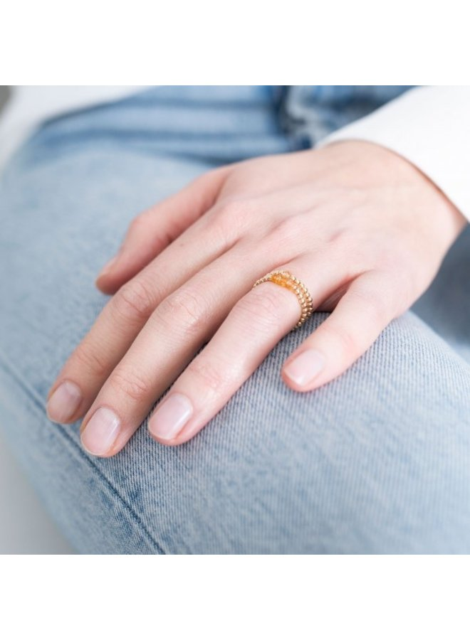 Ring sparkle citrine S/M Gold
