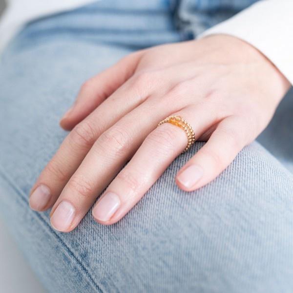 Ring sparkle citrine S/M Gold-2