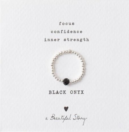 Ring Sparkle Black Onyx Silver M/L-1