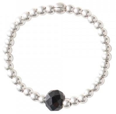 Ring Sparkle Black Onyx Silver M/L-3