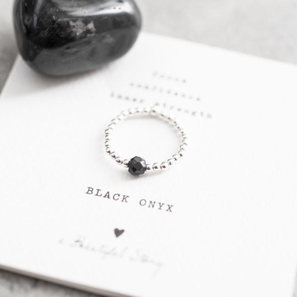 Ring Sparkle Black Onyx Silver M/L-4