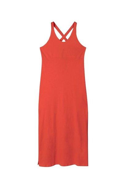 Jurk wrapper dress jersey fluor red