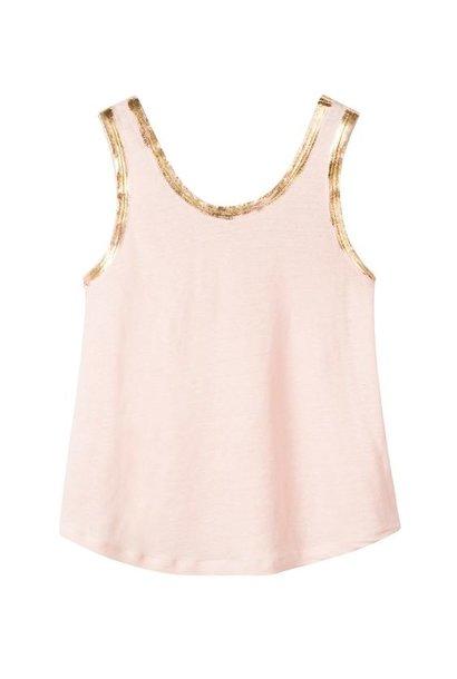 Top linen dirty pink