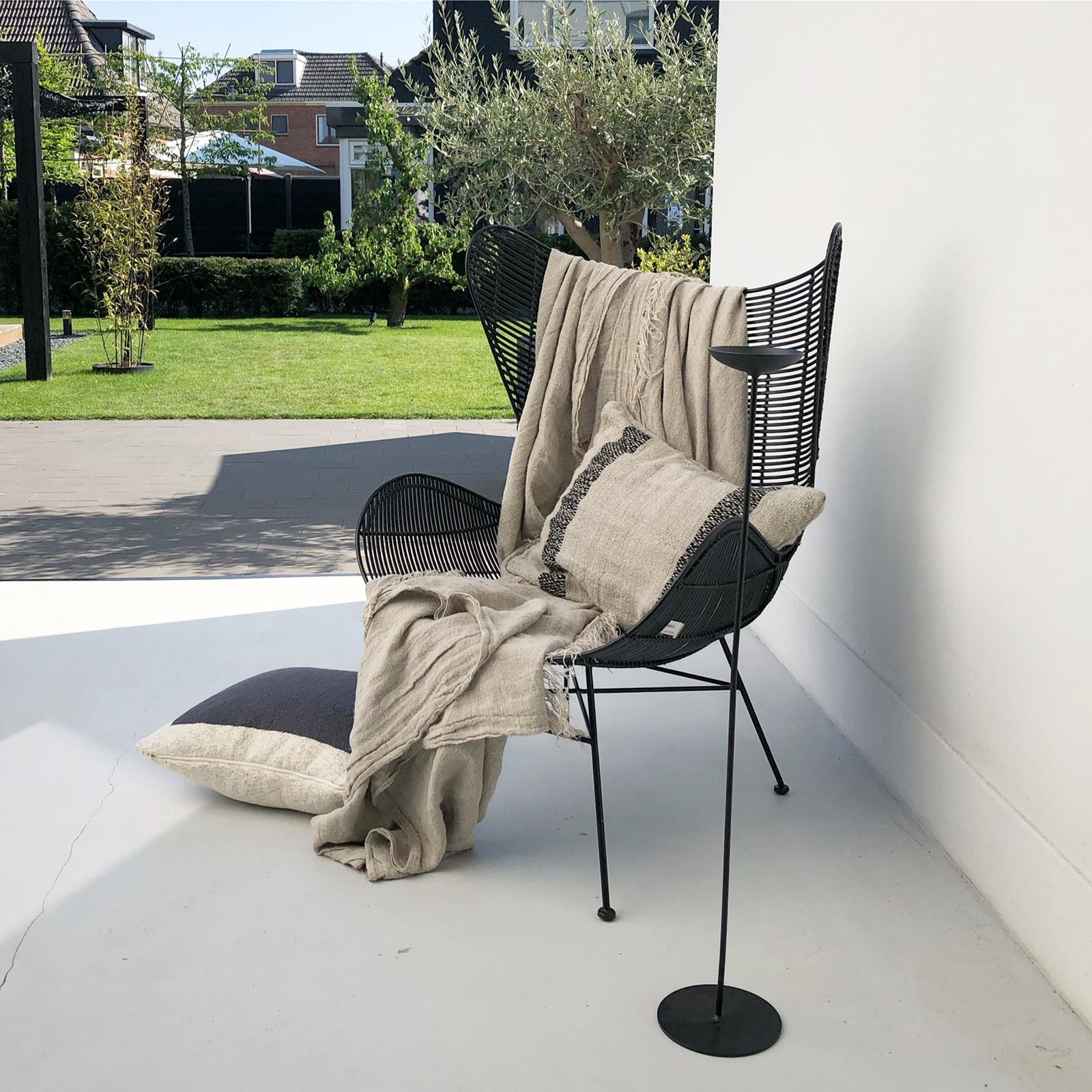 Stoel outdoor egg chair black-4