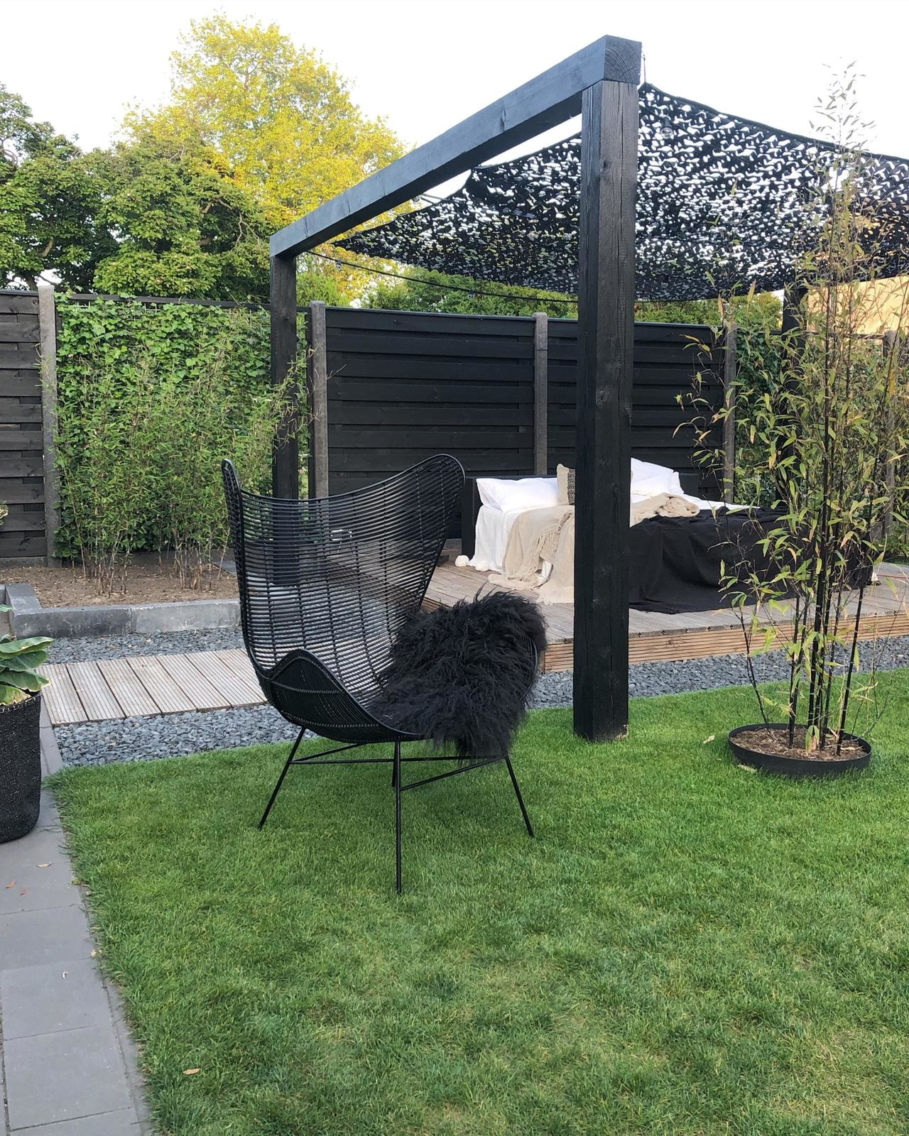 Stoel outdoor egg chair black-5