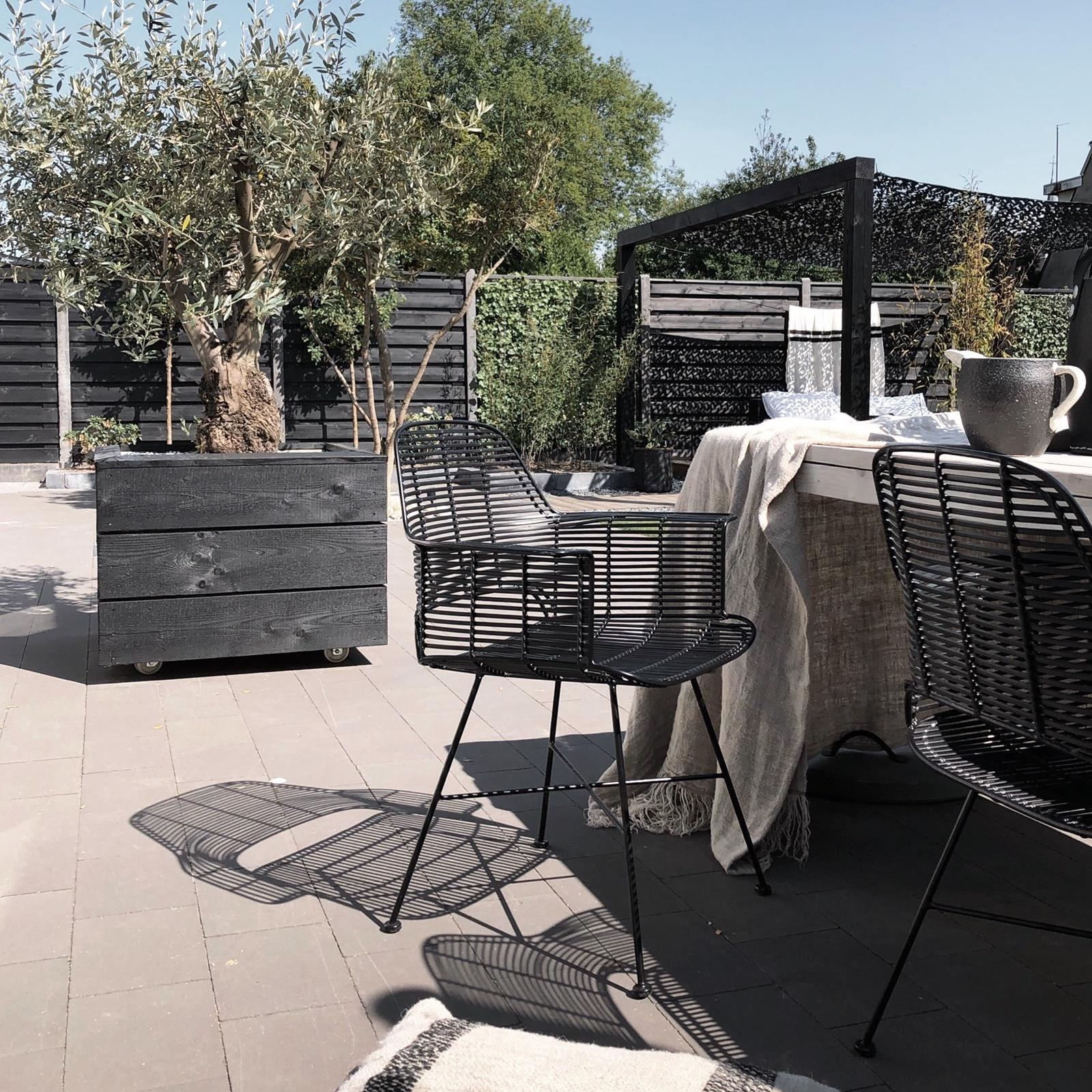 Stoel outdoor tub chair black-4