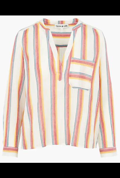 blouse multicolour blouse