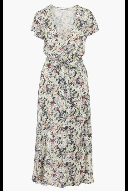 jurk floral print wrap long