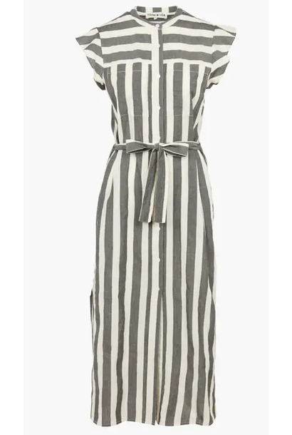 jurk stripped sleeveless