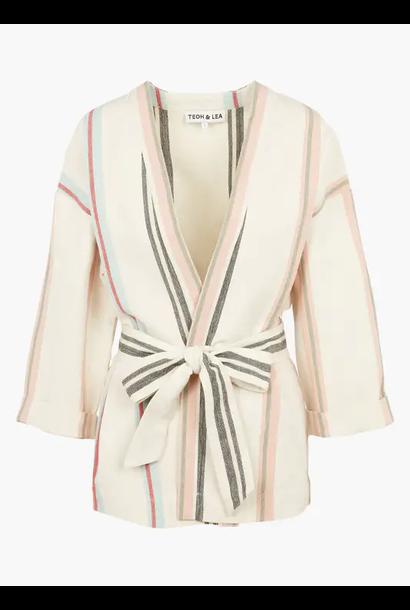 kimono striped belted