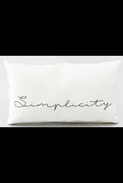 Kussen outdoor 'simplicity' 50x30cm