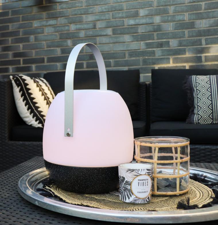 Tafellamp outdoor Pine Black + speaker-2