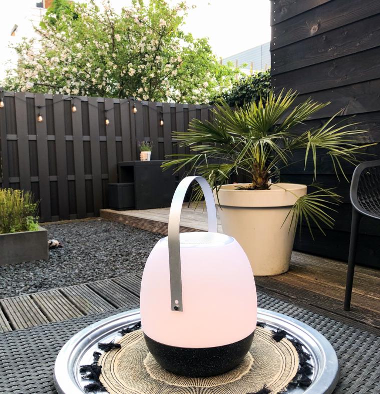Tafellamp outdoor Pine Black + speaker-4