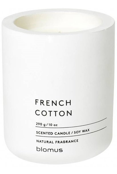 Kaars French cotton Lily White 55h 9cm
